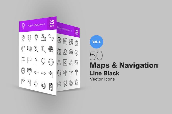 Thumbnail for 50 Иконки карт и навигационной линии