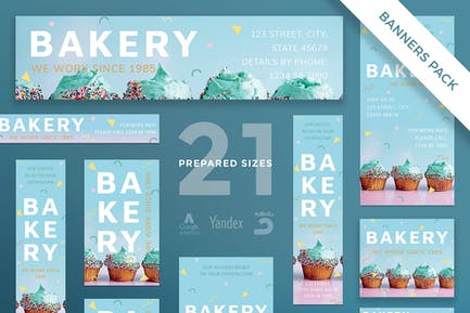 Bakery Sweets Banner Pack Template