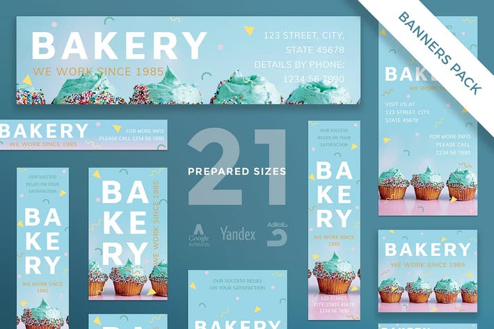 Thumbnail for Bakery Sweets Banner Pack Template