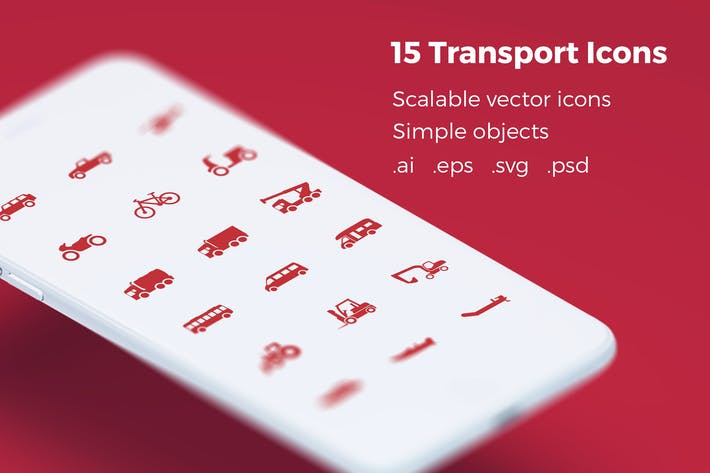Thumbnail for Transport Icons - Premium Vector Iconset