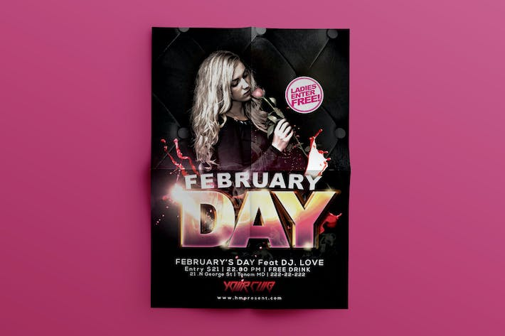 Thumbnail for February Flyer Template