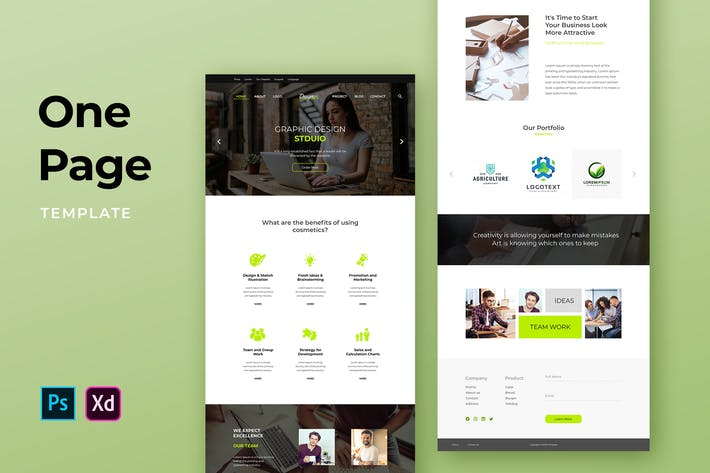 Thumbnail for Web Agency One Pages Template