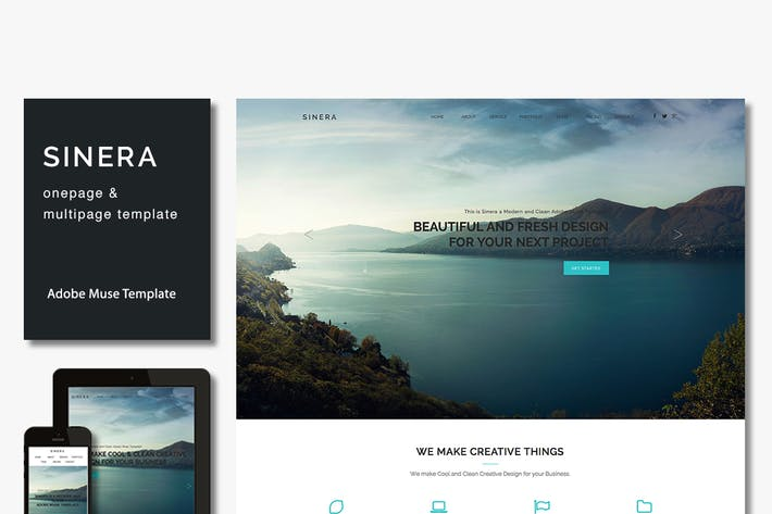 Cover Image For Sinera - Creative Adobe Muse Template