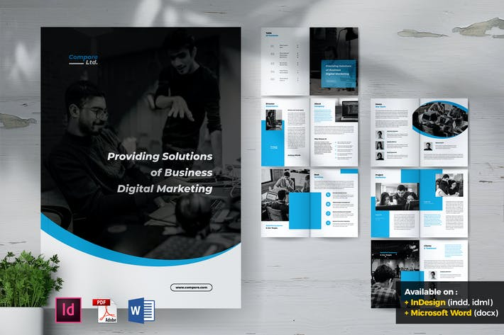 Thumbnail for COMPORE Digital Marketing Company Profile Brochure