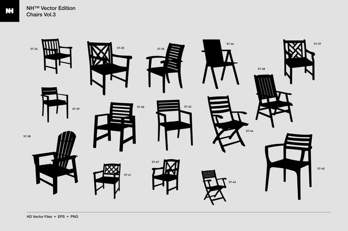 Thumbnail for Vector Edition - Chairs Vol. 3