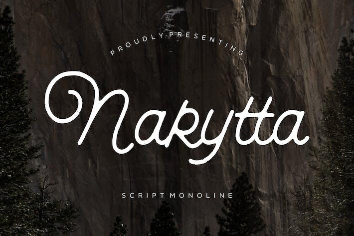 Thumbnail for Nakytta Monoline Script