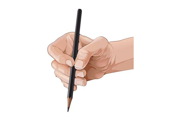 Thumbnail for Isolierte Hand hält einen Bleistift