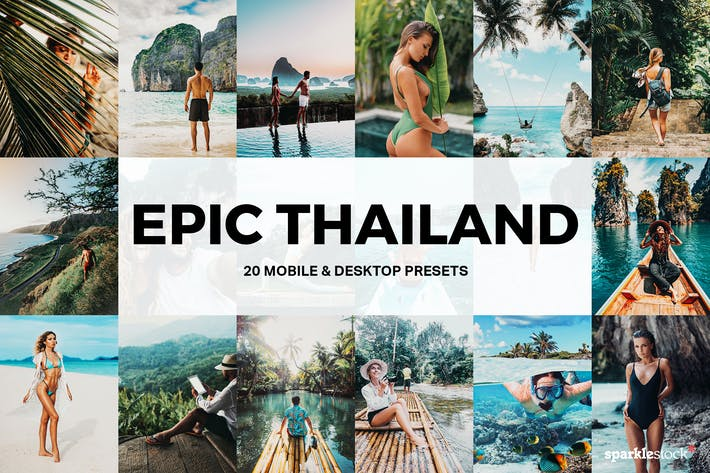 Thumbnail for 20 Epic Thailand Lightroom Presets and LUTs