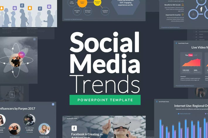 Thumbnail for Social Media Trends - Powerpoint Template