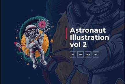 Astronaut Tshirt Graphic vol 2