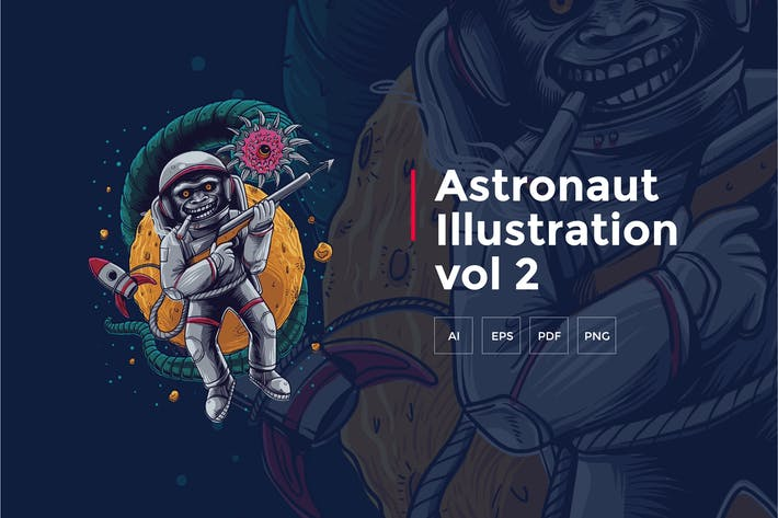Thumbnail for Astronaut Tshirt Graphic vol 2