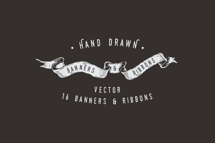Thumbnail for Hand Drawn Banners & Ribbons