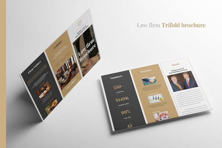 Cover Image For Law Firm Trifold brochure