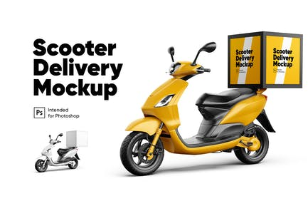 Scooter Lieferung Mockup