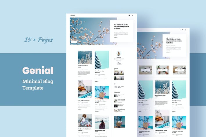 Thumbnail for Genial - Minimal Blog HTML Template