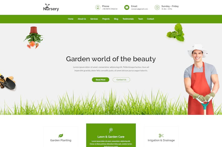 Thumbnail for Nursery - Gardening PSD Template