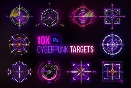 Cyberpunk Target Elements