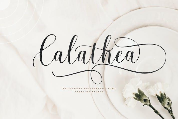 Thumbnail for Calathea - Элегантный шрифт каллиграфии