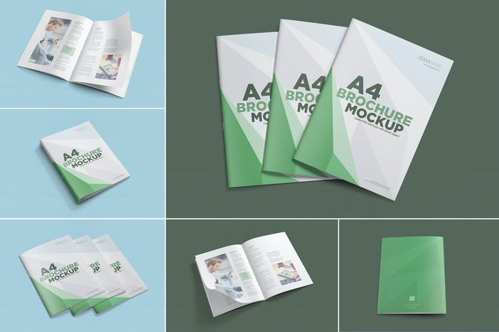 Thumbnail for 6 A4 brochure mockup