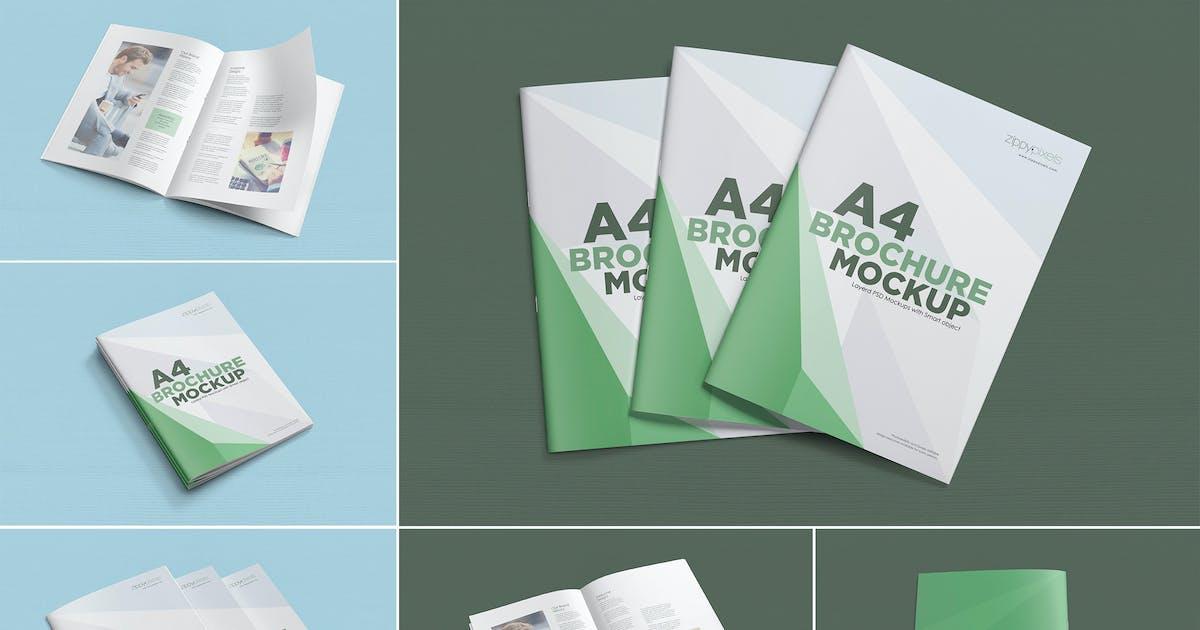 Download 6 A4 brochure mockup by zippypixels
