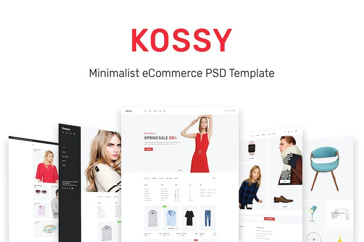 Thumbnail for Kossy | Minimalist eCommerce PSD Template