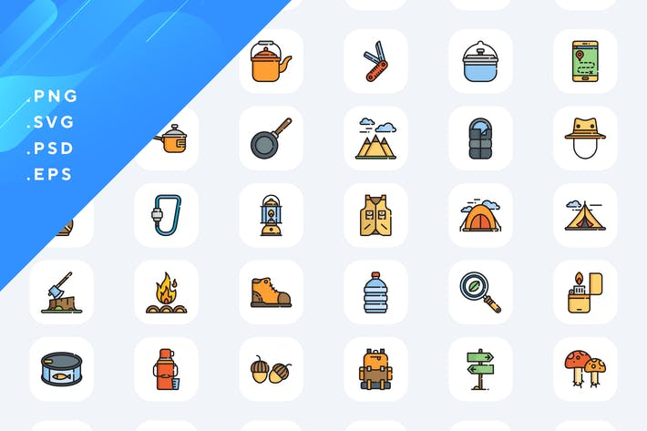 50 Camping Icons
