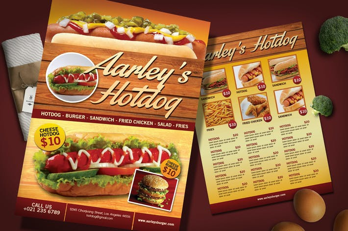 Thumbnail for Hotdog Menu Flyer