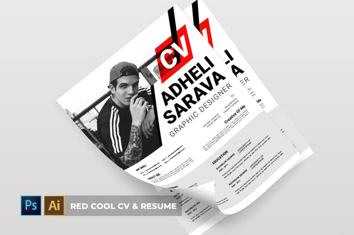 Thumbnail for Red Cool | CV & Resume