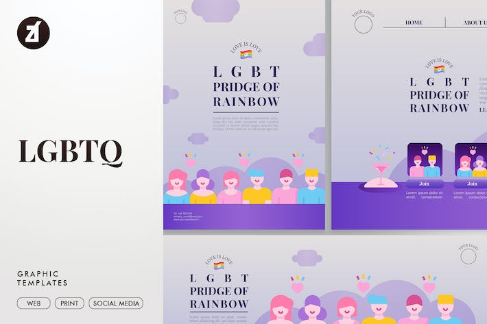 Thumbnail for LGBTQ Graphic Templates