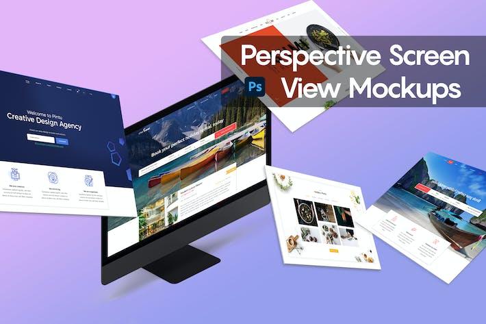 Perspective Screen View Mockups