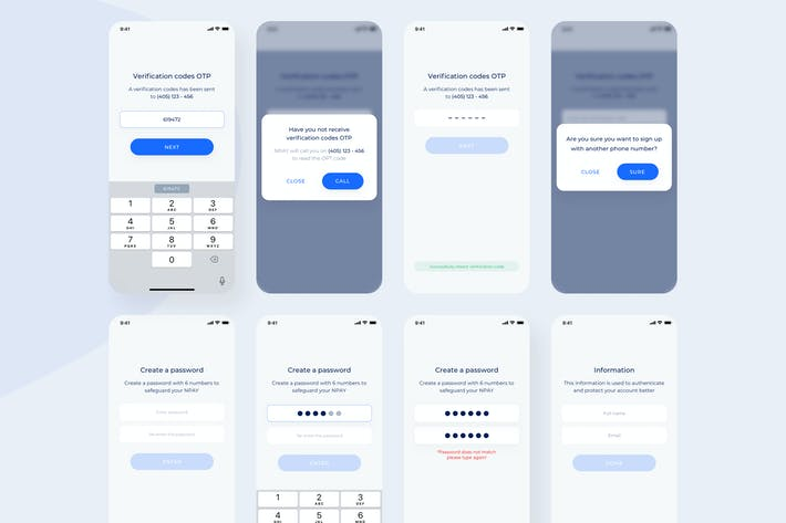 Register - Wallet Mobile UI - N