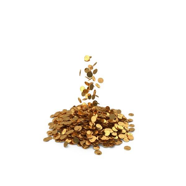 Pile of Gold coins Lari