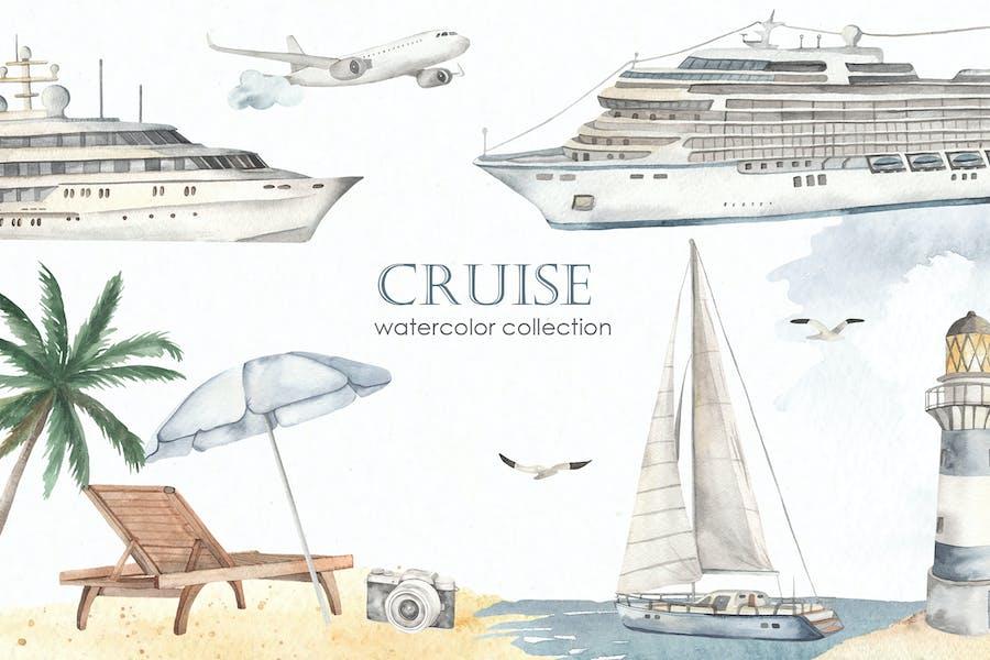 Cruise Watercolor