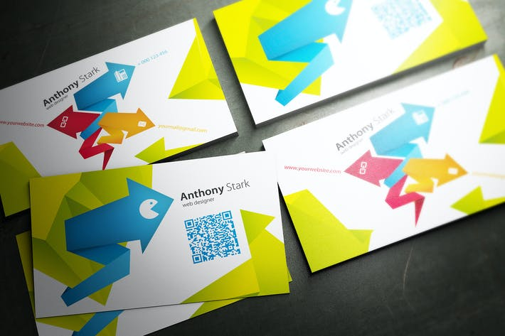 Thumbnail for Arrows Business Card Design