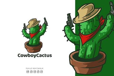 Cowboy Cactus Logo Template