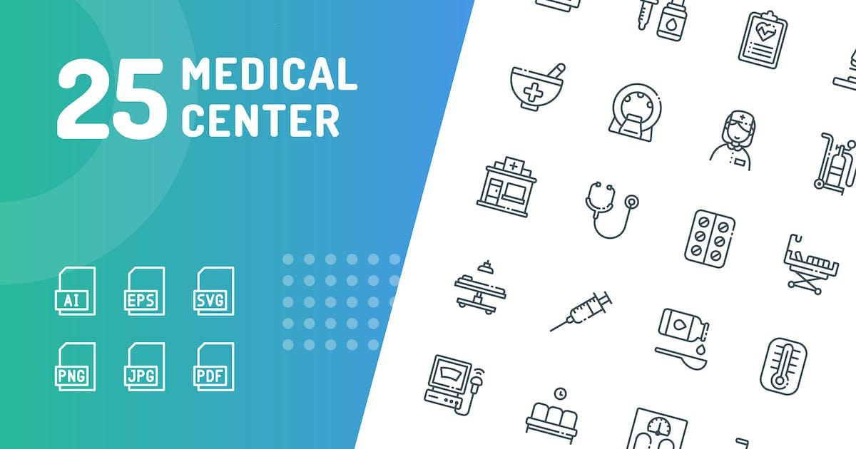 Download Medical Center Line Icons by kerismaker