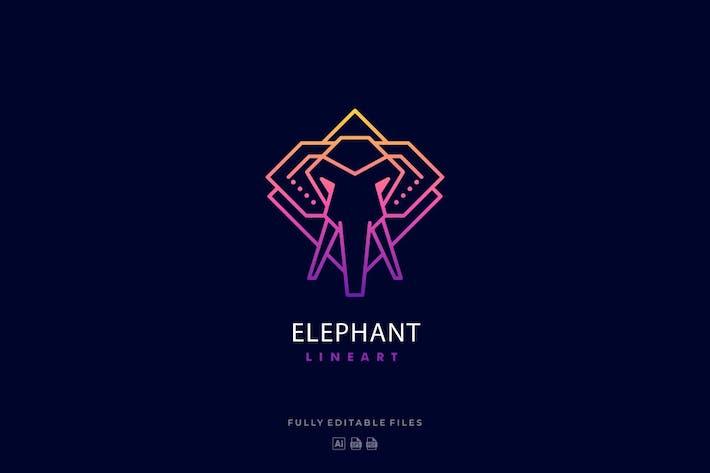 Thumbnail for Elephant Color Lineart Logo