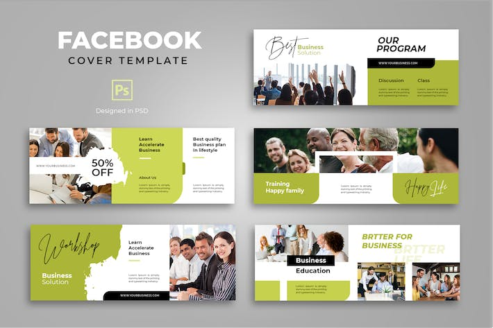 Thumbnail for Facebook Business Cover Template