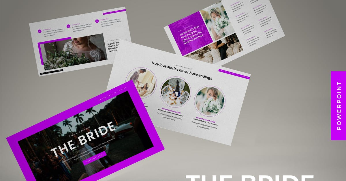 Download The Bride - Powerpoint Template by karkunstudio