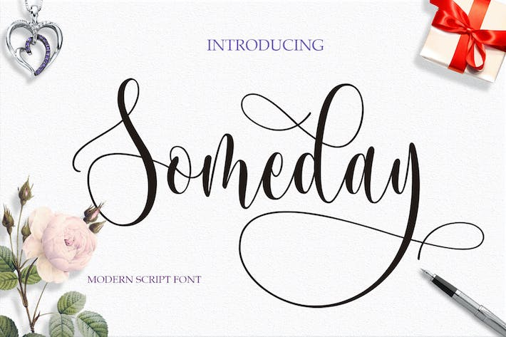 Cover Image For Someday Script font