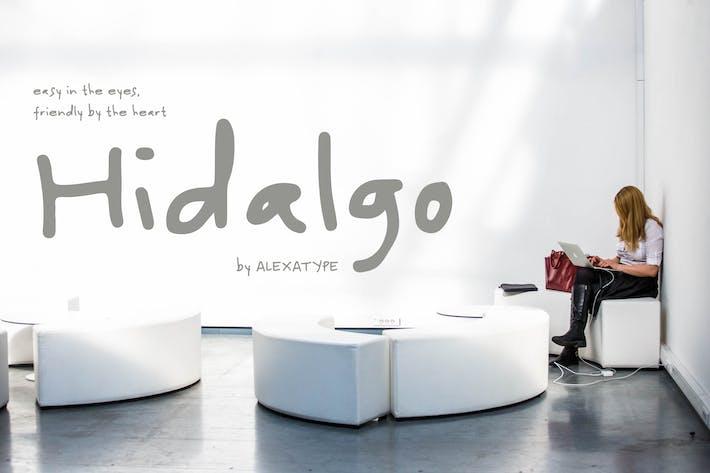 Thumbnail for Hidalgo - Fuente de escritura a mano amigable