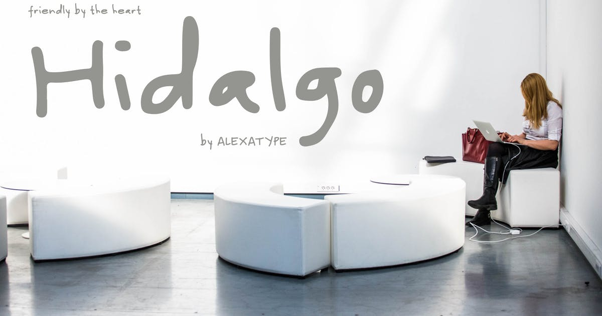 Download Hidalgo - Friendly Handwriting Font by alexacrib