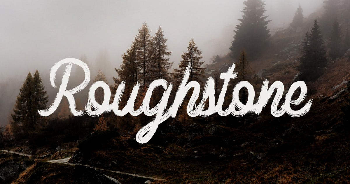 Download Roughstone - Handbrush Typeface by naulicrea