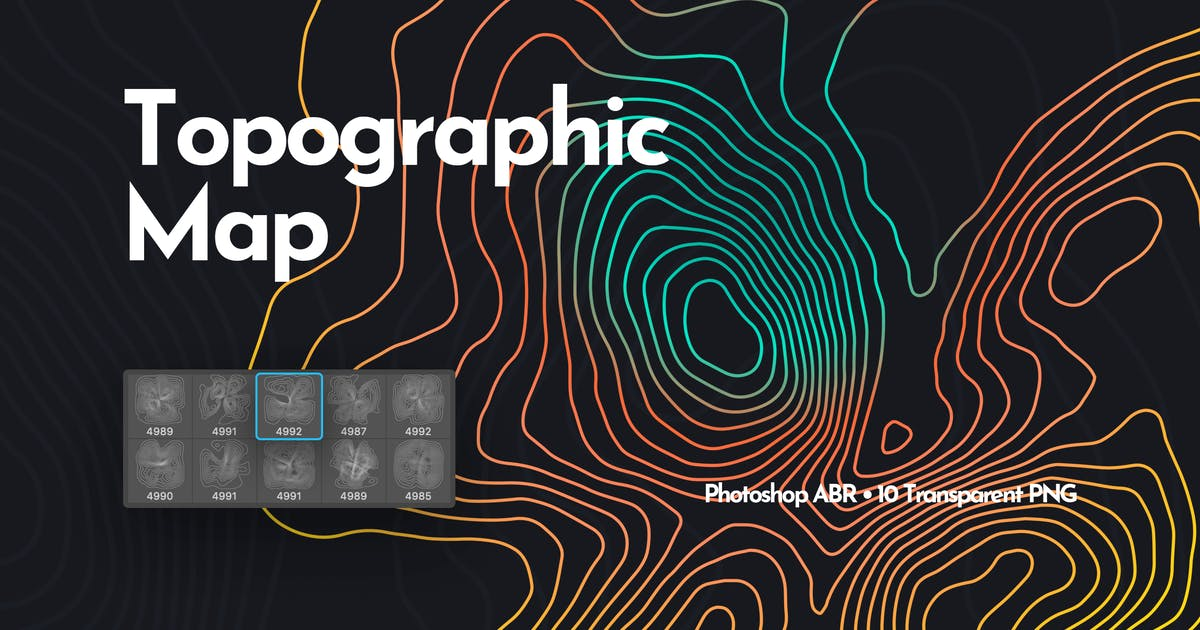 Download Topographic Map Photoshop Brushes by themefire