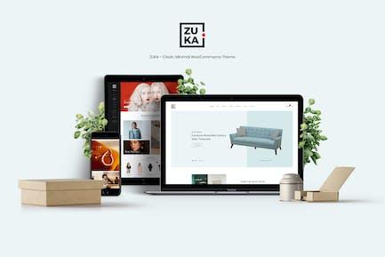 Zuka - Чистый, Минимальный WooCommerce Тема