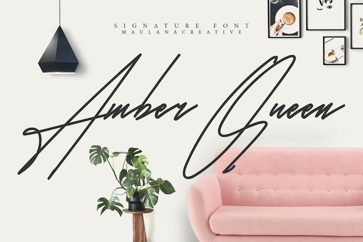 Thumbnail for Amber Queen - Signature Font