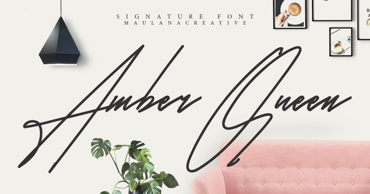 Download Amber Queen - Signature Font by maulanacreative