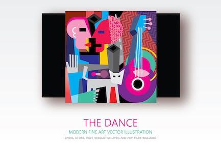 The Dance modern fine art vector painting