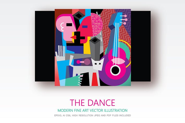 Thumbnail for The Dance modern fine art vector painting