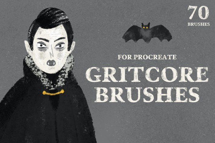 Thumbnail for Gritcore Brushes for Procreate
